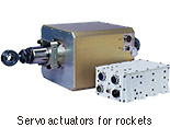 Servo actuators for rockets