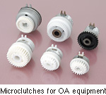 Microclutches for OA equipment