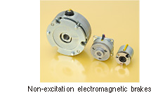 Non-excitation electromagnetic brakes